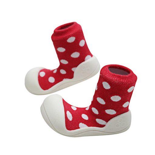 Giầy tập đi Attipas Polka Dot Red AD06 - Giầy cho bé gái tập đi - giầy xinh cho bé trai 20 tháng