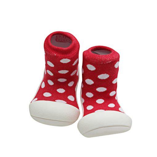 Giầy tập đi Attipas Polka Dot Red AD06 - Giầy cho bé gái tập đi - Giầy cho bé tập đi