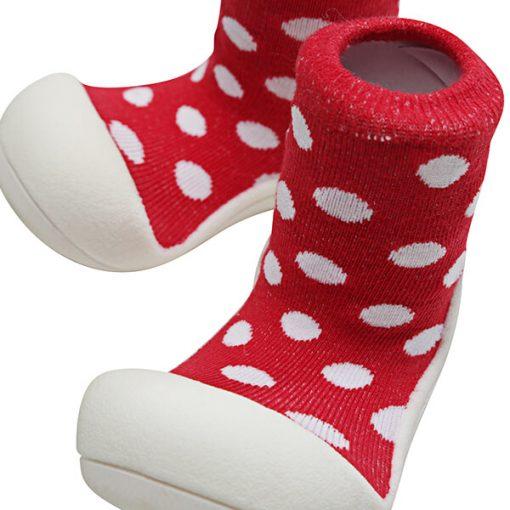 Giầy tập đi Attipas Polka Dot Red AD06 - giầy tập đi cho bé - giầy xinh cho bé gái 1 tuổi