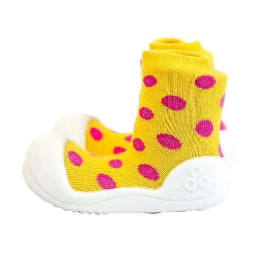 Giầy tập đi Attipas Polka Dot Yellow AD01 - Giầy cho bé gái tập đi - giày xinh cho bé gái 1 tuổi