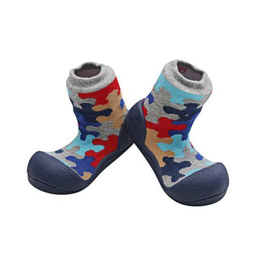 Giầy tập đi Attipas Puzzie APZ02 - giầy tất hàn quốc tập đi - giày cho bé tập đi