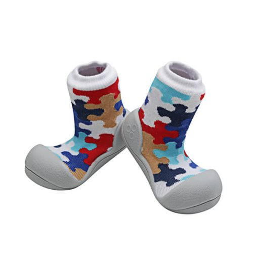 Giầy tập đi Attipas Puzzle Gray APZ01- giầy bé trai cao cấp hàn quốc - giầy tập đi cho bé trai 2 tuổi