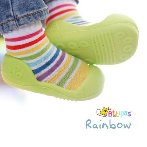 Giầy tập đi Attipas Rainbow - giày cho bé trai 1 tuổi tphcm - Giầy bé trai tập đi