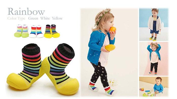 Giầy tập đi Attipas Rainbow - Giầy cho bé tập đi attipas.vn