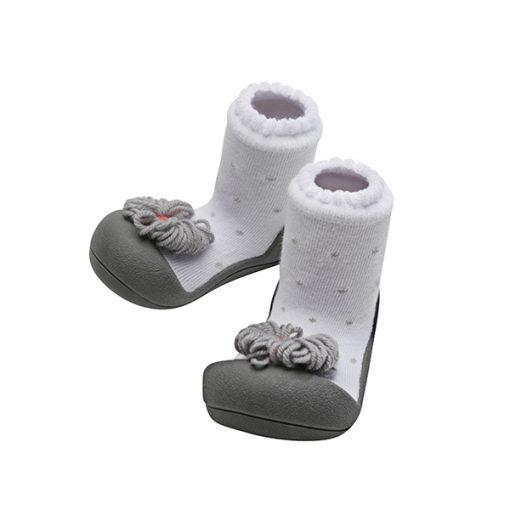 Giầy tập đi Attipas Ribbon Gray A18RG - giầy trẻ em cao cấp, giầy chức năng cho bé tập đi