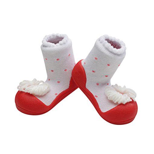 Giầy tập đi Attipas Ribbon Red A18R - giầy xinh cho bé gái - giầy bé gái tập đi