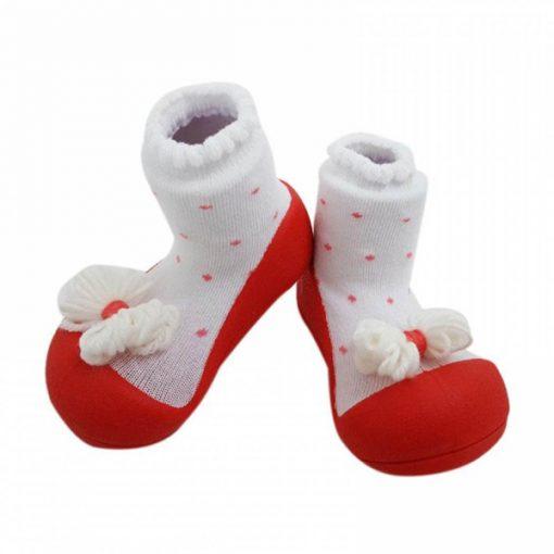 Giầy tập đi Attipas Ribbon Red A18R - giày xinh cho bé gái 2 tuổi - giầy xinh bé gái