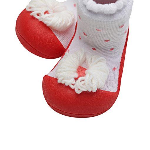 Giầy tập đi Attipas Ribbon Red A18R - giầy xinh cho bé gái 1 tuổi - giầy bé gái 1 tuổi