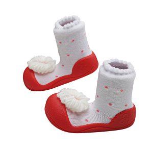 Giầy tập đi Attipas Ribbon Red A18R - giầy xinh cho bé gái 1 tuổi - mẫu giày đẹp cho bé gái tập đi