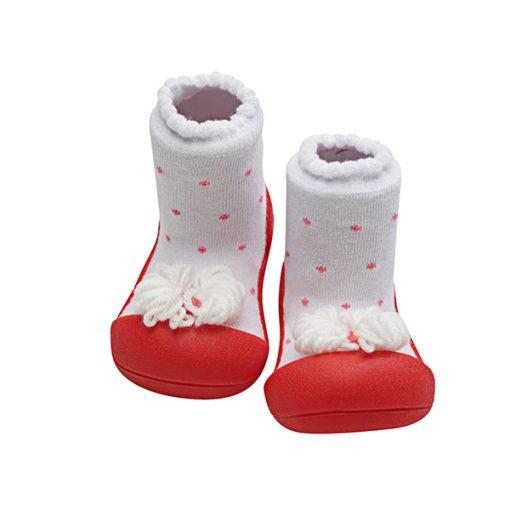 Giầy tập đi Attipas Ribbon Red A18R - giày điệu cho bé gái - giầy xinh cho bé gái 12 tháng
