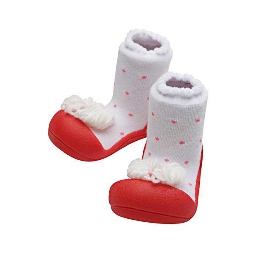 Giầy tập đi Attipas Ribbon Red A18R - giầy điệu cho bé gái - giầy xinh cho bé gái 1 tuổi