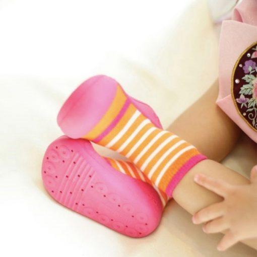 Giầy chức năng tập đi Attipas Ringle Fuchsia PR01 - giày xinh cho bé gái - giày xinh cho bé trai