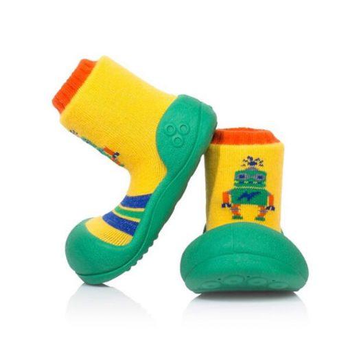 Giầy tập đi Attipas Robot Green ARO01 - giầy chức năng cho bé tập đi - giầy xinh cho bé trai