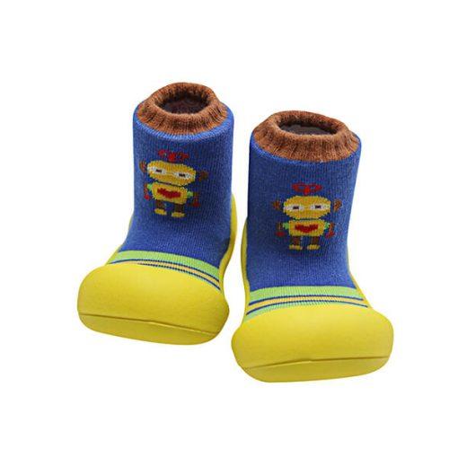 Giầy tập đi Attipas Robot Yellow ARO03 - giầy xinh cho bé trai - giầy xinh cho bé gái