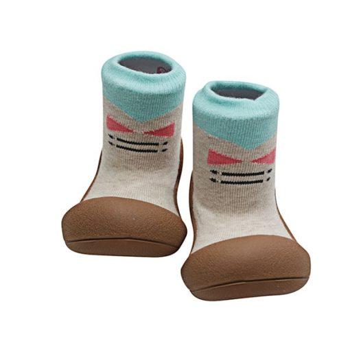 Giầy tập đi Attipas Tie Brown A17T- giầy trẻ em cao cấp hàn quốc - giầy chức năng cho bé tập đi