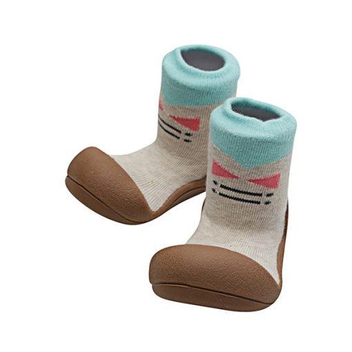 Giầy tập đi Attipas Tie Brown A17T- giầy trẻ em cao cấp hàn quốc - giày chức năng cho bé tập đi