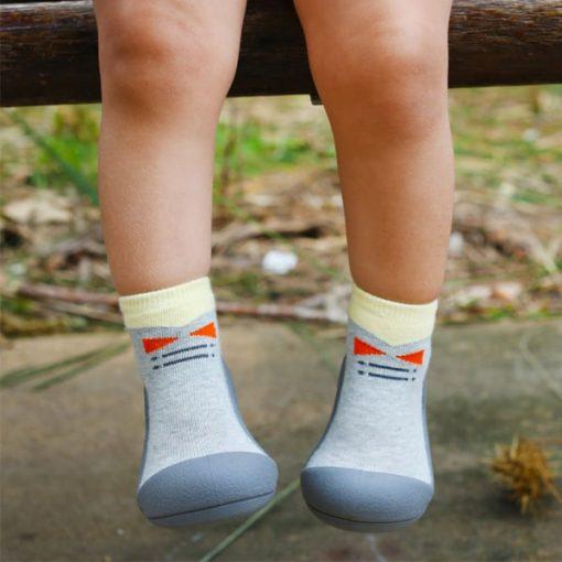 Giầy tập đi Attipas Tie Gray A17TG- giầy xinh cho bé gái - giầy xinh cho bé trai, giầy tập đi