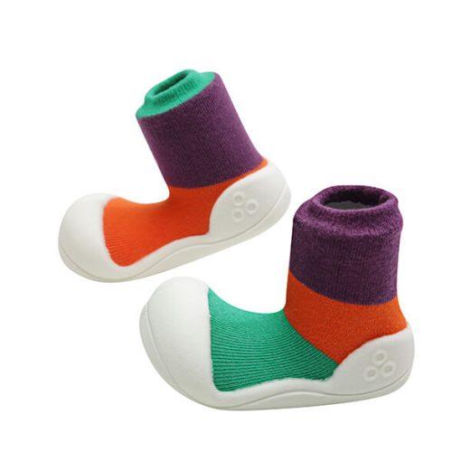 Giầy tập đi Attipas Together Purple AT02 - giày cho bé gái 1 tuổi - giầy xinh cho bé gái 12 tháng
