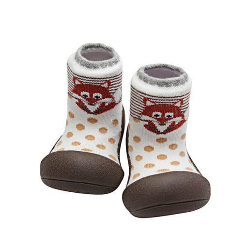 Giầy tập đi Attipas ZOO Brown ZO01 - giầy xinh cho bé tập đi - giầy bé gái 2 tuổi