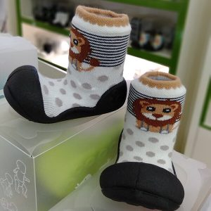 Giầy tập đi Attipas ZOO Black ZO03 - mẫu giày bé gái đẹp - giày cho bé gái 1 tuổi
