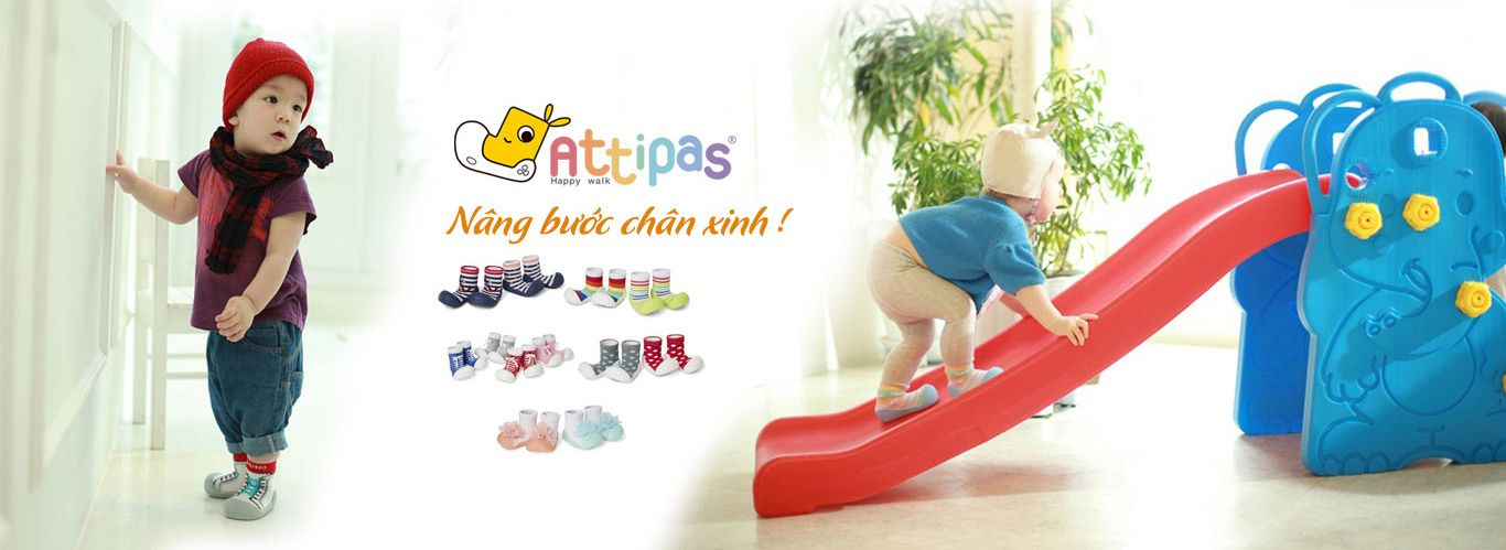 giầy chức năng cho bé tập đi - Banner giày tập đi Attipas