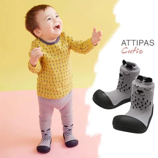 Giầy tập đi Attipas Cutie Gray A17CG- giầy xinh cho bé trai - giầy bé trai 1 tuổi