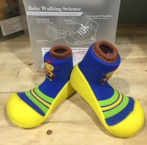 Giầy tập đi Attipas Robot Yellow - giầy xinh cho bé trai - giầy bé trai 1 tuổi - giầy bé trai 2 tuổi