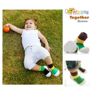 Giầy tập đi Attipas Together Brown, giầy xinh cho bé trai, giầy bé trai 1 tuổi, giầy bé trai 2 tuổi,