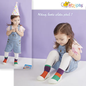 Giầy tập đi Attipas Together Purple, giầy xinh cho bé gái, giầy bé gái tập đi