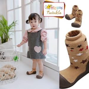 Giầy tập đi Attipas Twinkle Brown - giầy chức năng cho bé tập đi - giầy tập đi cho bé