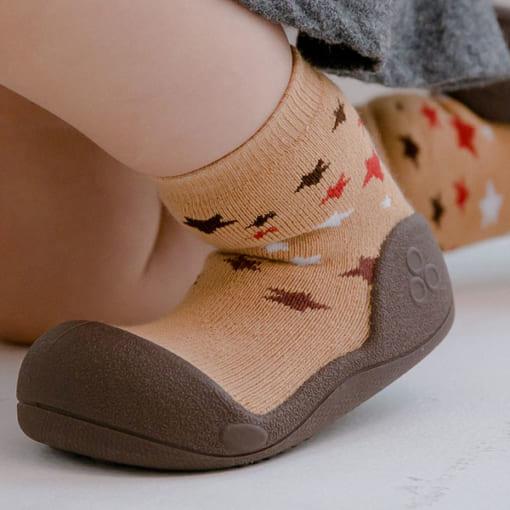 Giầy tập đi Attipas Twinkle Brown - giầy em bé trai - giầy tập đi cho bé - giày bé gái 1 tuổi