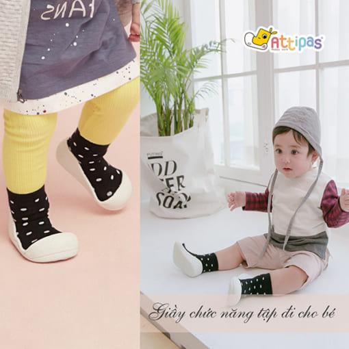 giầy tập đi attipas urban dot, giầy xinh cho bé trai 1 tuổi, giầy cho bé gái hà nội