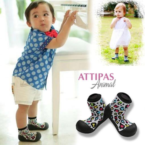 Giầy tập đi Attipas Animal giày cho bé gái dưới 1 tuổi - Giày tập đi cho bé trai