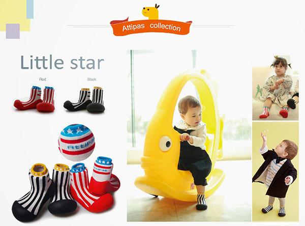 Giầy tập đi Attipas Little Star - giày xinh cho bé gái - giày bé gái - giầy bé trai 1 tuổi