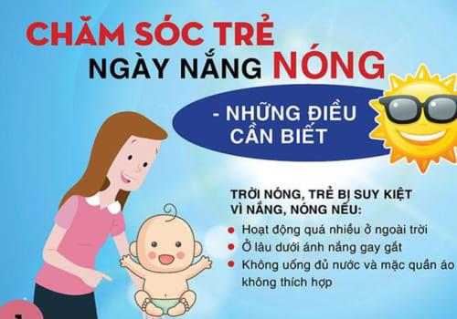 Cẩm nang chăm sóc trẻ ngày nắng nóng cha mẹ cần biết - kinh nghiệm chăm sóc trẻ attipas.vn